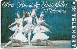 DENMARK TELEKORT PHONECARD/RUSSIAN STATE BALLET 1 20KR- 11/93-2500pcs -USED(MM2) - Dänemark