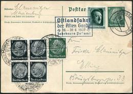 Germany 1937 Card Königsberg MARIENBURG-DANZIG KRAFPOST Fahrbares Postamt BUS Auto-Mobile-Post TPO Malbork-Gdańsk Poland - Bus