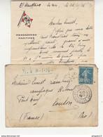 Fixe Lettre * Point à Pitre 25 Nov 1925 Cachet Paquebot El Kantara Messageries Maritimes Affranchissement Semeuse - Brieven En Documenten