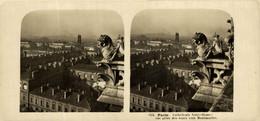 325 Paris. Cathédrale Notre Dame, Vue Prise Des Tours Vers Montmartre. ESTEREOSCOPICA. STÉRÉOSCOPIQUE. STEREOSCOPIC - Stereoscopic