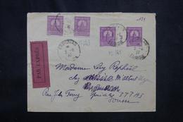 TUNISIE - Enveloppe De Kairouan En Exprès Pour Sousse En 1937, Affranchissement Avec 2 Millésimes - L 72517 - Covers & Documents