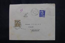 TUNISIE - Taxe De Tunis Sur Enveloppe De Perpignan En 1953 - L 72518 - Covers & Documents