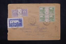 TUNISIE - Enveloppe De Tunis Pour Sousse En 1934, Affranchissement Millésime + Vignette D'Aéorophilie - L 72519 - Covers & Documents