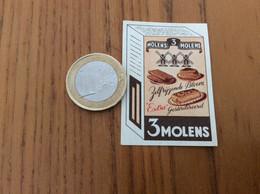"""Ancienne étiquette Boîte D'allumettes Belgique """"3 MOLENS - Zelfrijzende Bloem Extra Gesteriliseerd"""" (Moulin) - Matchboxes"""