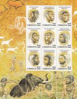 OUZBEKISTAN - N°364/72 ** (2002) L'homme Préhistorique - Uzbekistan