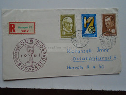 D173936 Hungary  Registered Cover Ca 1961 Meeting Of Transport Ministers - Hungary