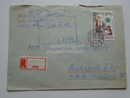 D173938  Hungary   Registered  Cover Ca 1966    Stamp  Tales - Hungary