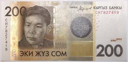 Kyrgyzstan - 200 Som - 2016 - PICK 27b - NEUF - Kirgisistan