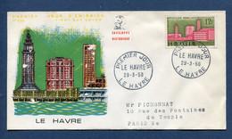 ⭐ France - FDC - Premier Jour - Le Havre - 1958 ⭐ - 1950-1959