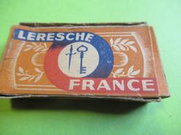 Etui Carton Pour 10 Lames De Rasoir/avec 2 Lames /LERESCHE France/ Made In France//Vers 1930-1950   PARF219 - Lamette Da Barba