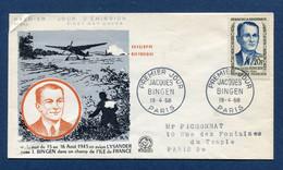 ⭐ France - FDC - Premier Jour - Jacques Bingen - Paris - 1958 ⭐ - 1950-1959