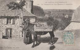 15 PIERREFORT   Transport De L'eau Minerale  A Dos De Mulet - Sonstige Gemeinden
