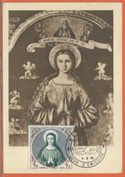 RELIGION MONACO CARTE MAXIMUM DE 1955 - Cristianesimo