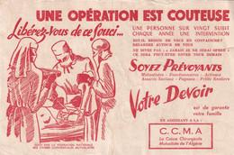 Buvard Caisse Chirurgicale Mutualiste De L'Algérie CCMA - M