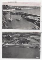 2 CPM - SAINT-GILDAS-DE-RHUYS (56) Le Port Et La Plage De Kerfagot Et De Port Maria Vue Aérienne - Sonstige Gemeinden