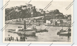 BINNENSCHIFFE - RHEIN, Schlepper Vor Koblenz, NS-Beflaggung Ehrenbreitstein - Remolcadores