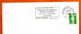 03 NERIS LES BAINS  CHATEAU DE BISSERET 1992 Lettre Entière N° FG 526 - Mechanical Postmarks (Advertisement)