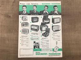 Publicité DUCRETET THOMSON - Pubblicitari