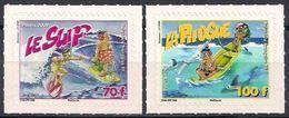 "Polynésie YT 876 & 877 "" Surf Et Pirogue, Adhésif "" 2009 Neuf** - Nuevos"