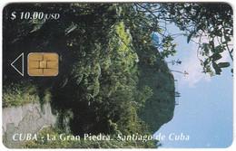 CUBA A-320 Chip Etecsa - Landscape, Forest - Used - Cuba
