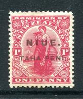 Niue 1917 New Zealand Overprints - 1d Dominion - P.14 X 15 - HM (SG 21) - Niue