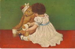 TEDDY BEAR   + CHILD  AIN'T BABIES ROUGH  Pu 1942 - Games & Toys