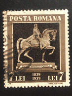 Romania/Roumanie 7 Lei 1939 The 100th Anniversary Of The Birth Of King Carol I - 1918-1948 Ferdinand, Charles II & Michael