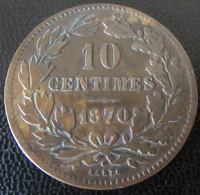 Luxembourg - Monnaie 10 Centimes 1870 Avec Point Au Dessus De La Signature - Lussemburgo