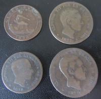 Espagne / Espana - 4 Monnaies Diverses 1870 à 1879 - Collections