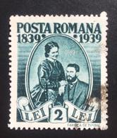 Romania/Roumanie 2 Lei 1939 The 100th Anniversary Of The Birth Of King Carol I - 1918-1948 Ferdinand, Charles II & Michael