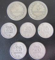 El Salvador - 7 Monnaies Entre 1944 Et 1953 - El Salvador
