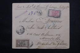 MADAGASCAR - Enveloppe De Majunga En Recommandé Pour Marseille En 1926, Affranchissement Recto / Verso  - L 72551 - Storia Postale