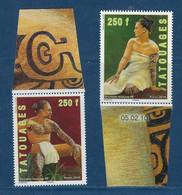 """Polynésie YT 902 & 903 """" Tatouages """" 2010 Neuf** BDF - Nuevos"""