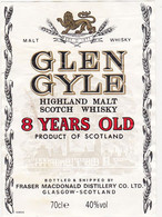 Etiquette Whisky / GLEN GYLE 8 YEARS OLD / SCOTLAND - Whisky