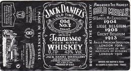 Etiquette Whisky / JACK DANIEL'S / WHISKEY / TENNESSEE - Whisky