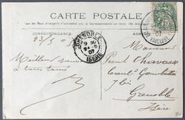 France N°111 Sur CPA - TAD PALAIS DES PAPES AVIGNON, VAUCLUSE 23.5.1907 - (B1022) - 1877-1920: Periodo Semi Moderno
