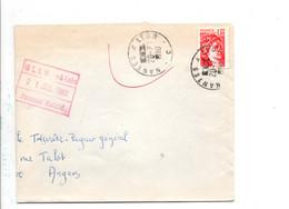 AMBULANT DE NANTES A LYON -C- 1980 - Matasellos Conmemorativos