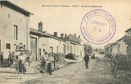 LOISY ROUTE DE DIEULOUARD AVEC CACHET 1er REGIMENT DU GENIE COMPAGNIE C4 CAPITAINE COMMANDANT - Otros Municipios