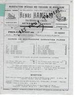 89 - Yonne - AUXERRE - Facture HAMELIN - Manufacture De Couleurs, Mastics, Pentures, Etc - 1950 - REF 166A - 1900 – 1949