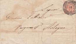 1700- LOMBARDO VENETO -  Lettera Del 26 Novembre 1858 Da Vimercate A Bergamo Per Artogne Con Cent 15  - III Tipo - - Lombardo-Veneto
