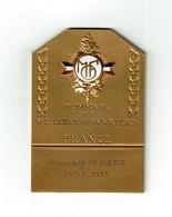 MEDAILLE HOMMAGE Des MEILLEURS OUVRIERS De FRANCE Nominative 1933  RARE  - VOIR SCANS - Royal / Of Nobility