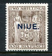 Niue 1931 New Zealand Overprints - Arms Type Postal Fiscals - 2/6 Deep Brown HM (SG 51) - Niue