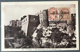 Maroc N°81 Et 82 Sur CPA (non Voyagée) - TAD TANGER CHERIFFIEN 1930 - (B1045) - Cartas