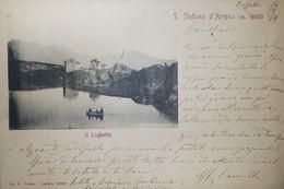 Cartolina - S. Stefano D'Arigna - Il Laghetto - 1908 - Sondrio