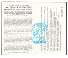 DP Hendrik Desloover ° Gits 1867 † Lichtervelde 1948 X A. Deygers / Devloo Degrendele Compernol Uitenhove Miot Pulinckx - Andachtsbilder