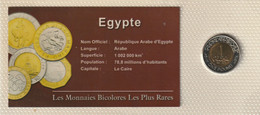 MONNAIE BICOLORE LES PLUS RARES 1 POUND EGYPTE  . VOIR SCAN - Egypte