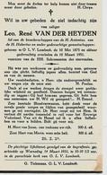 Souvenir Mortuaire VANDERHEYDEN Leo (1875-1951) Geboren En Overleden Te ONZE-LIEVE-VROUW-LOMBEEK - Andachtsbilder