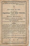Souvenir Mortuaire VAN DER VEKEN Augustinus (1854-1906) Geboren Te ONZE-LIEVE-VROUW-LOMBEEK Overleden Te EYZERINGEN - Andachtsbilder