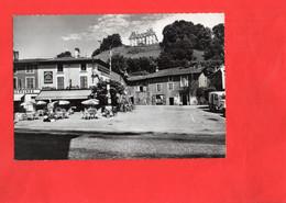 G0710 - VINAY - D38 - La Place De L'Eglise - L'Hôtel Et Le Château - Vinay