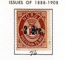 Norvege (1888)  -Cor Surcharge - Neuf Sg - Ongebruikt